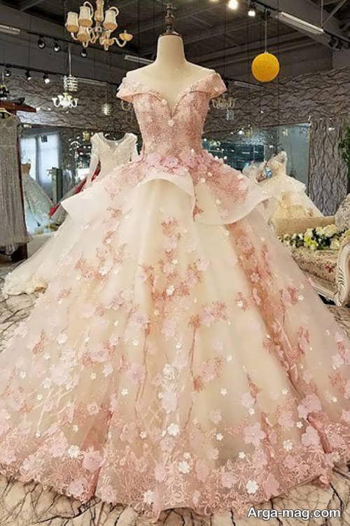 مدل پیراهن عروس پفی خاص