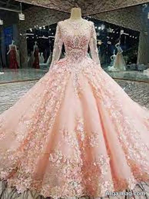 مدل پیراهن عروس پفی