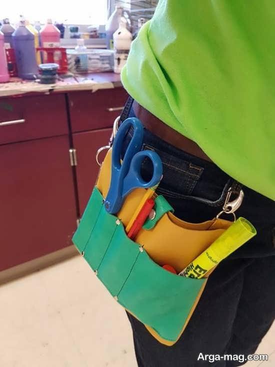 ساخت کیف کمری با وسایل ساده