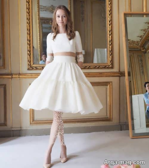 مدل لباس عروس پوشیده و آستین دار