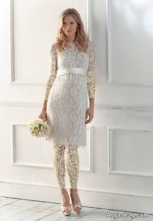 مدل لباس عروس کوتاه گیپور