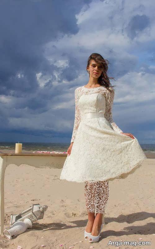 مدل لباس عروس شیک و کوتاه