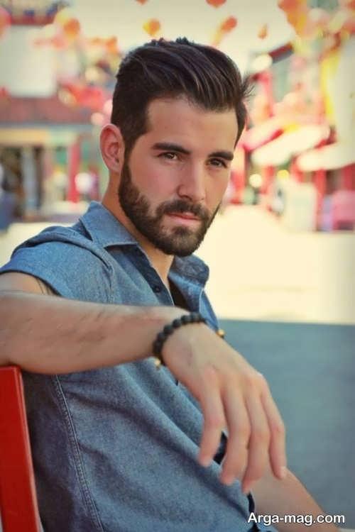 ریش کوتاه و زیبا مردانه