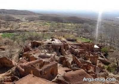 روستای گیسک از مکان تاریخی زرند