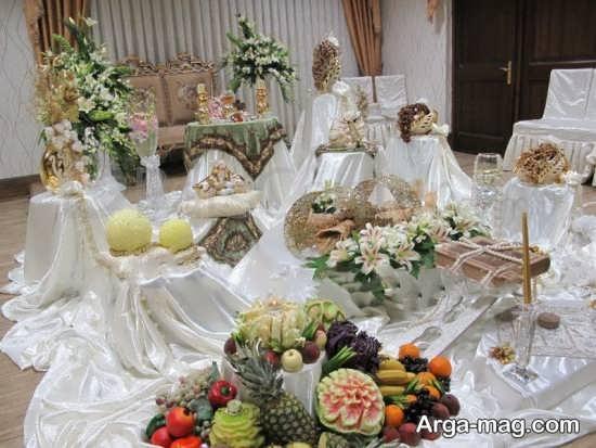 چیدمان زیبا سفره عروسی