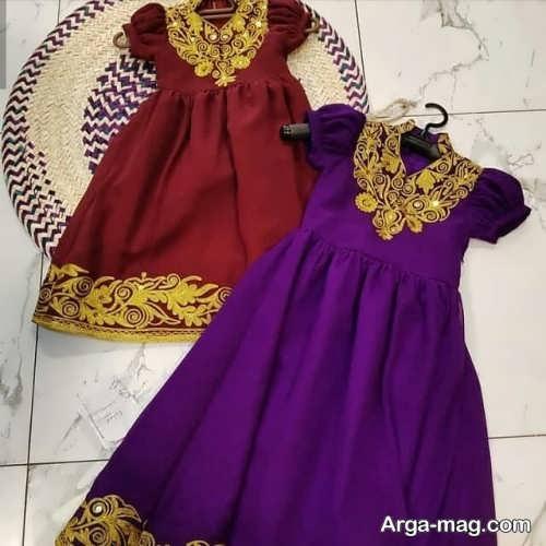 مدل لباس سنتی طرح دار