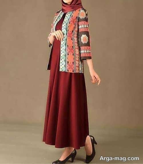 مدل لباس محلی طرح دار