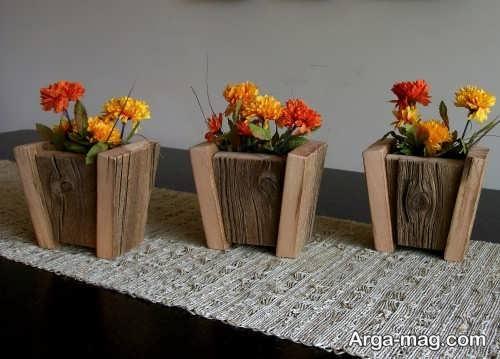 گلدان زیبا و بی نظیر چوبی