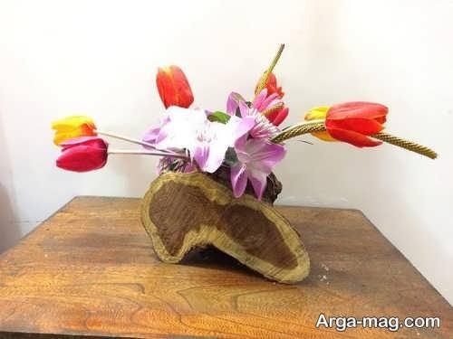 گلدان زیبا و شیک چوبی