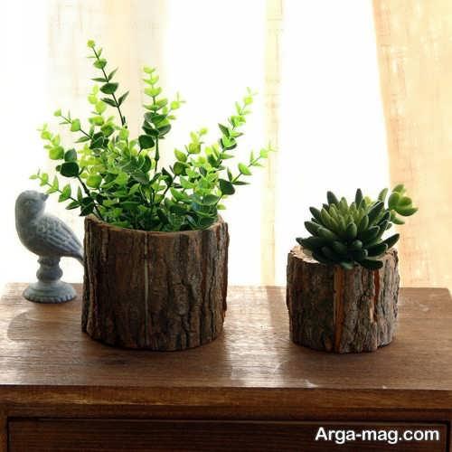 گلدان چوب گردو
