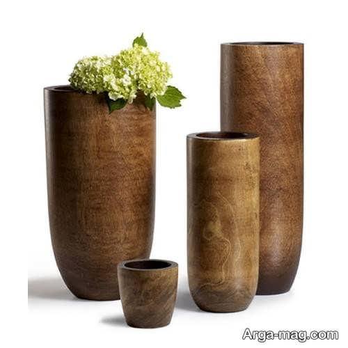 گلدان زیبا و جدید چوبی