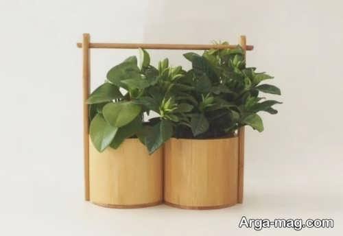 مدل گلدان ساده چوبی