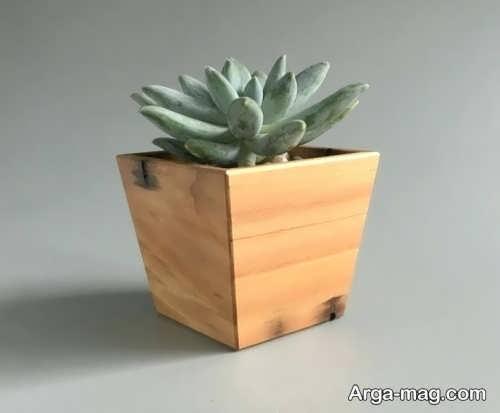 مدل گلدان چوبی ساده