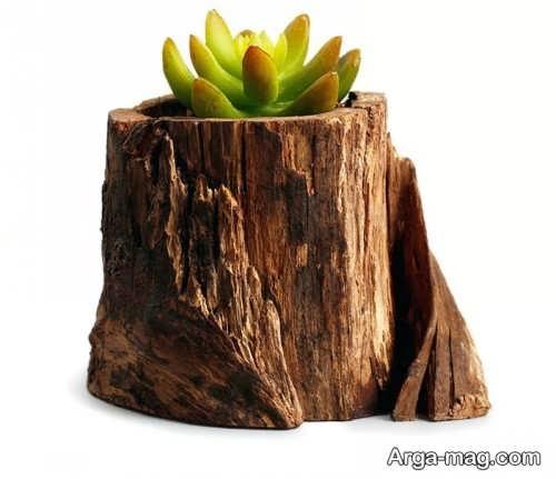 گلدان فانتزی و زیبا چوبی