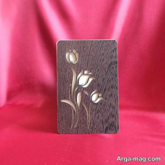 طرح چوبی کارت عروسی