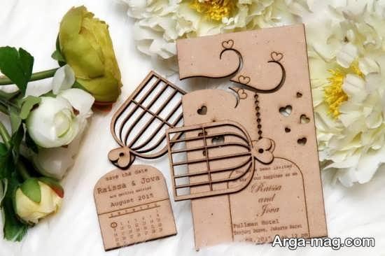 کارت عروسی مدل چوبی