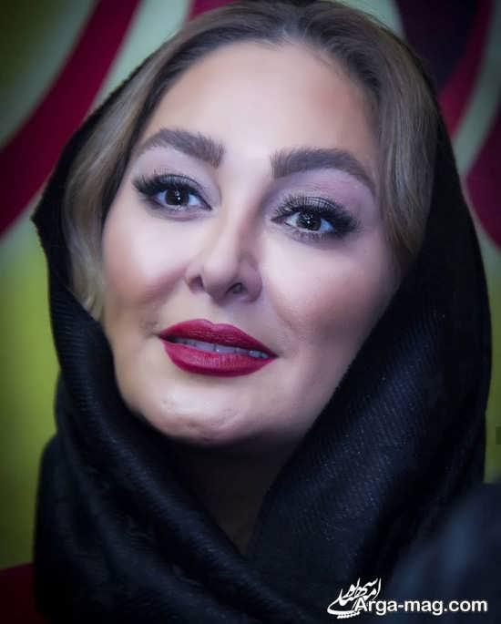 آرایش غلیظ الهام حمیدی