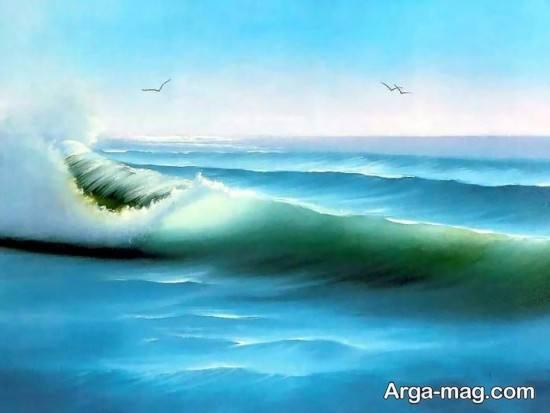 نقاشی امواج دریا