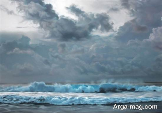 کشیدن موج دریا