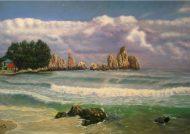 الگوی ساده نقاشی دریا