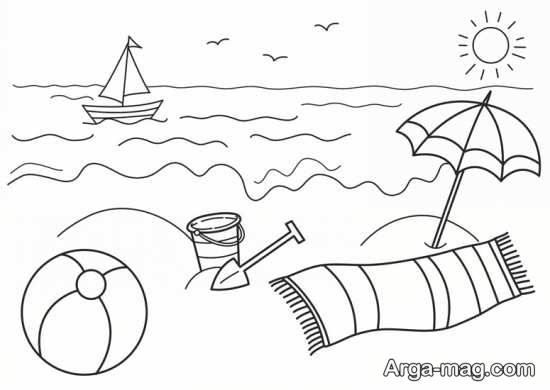 نقاشی آسان دریا