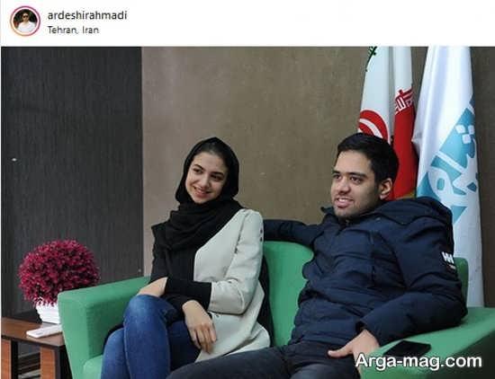 سارا خادم الشریعه در کنار همسرش