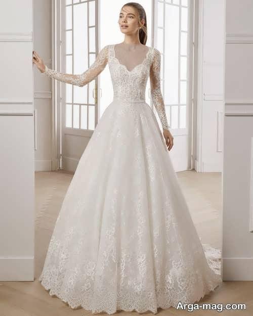 لباس عروس پوشیده و آستین دار