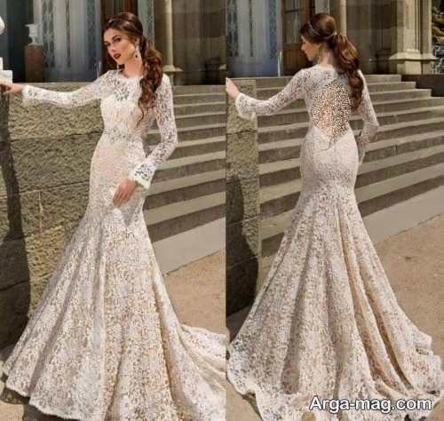 مدل لباس عروس گیپور 98