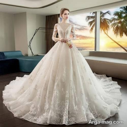 لباس عروس شیک و پوشیده 98