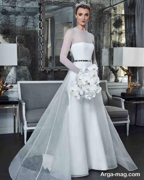لباس عروس آستین دار و ساده