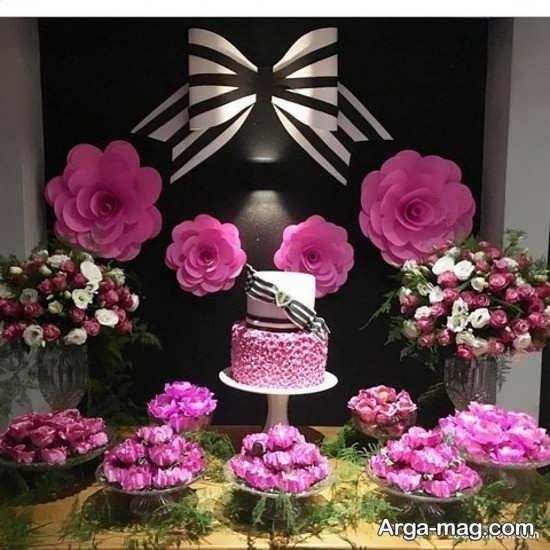 تزیین میز تولد با گل
