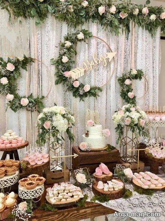 تزئین میز تولد با گل های زیبا