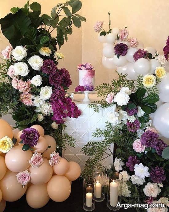 ایده برگزاری جشن تولد با گل
