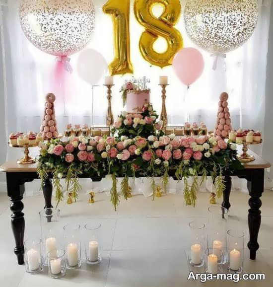 شیگ ترین گل آرایی میز تولد