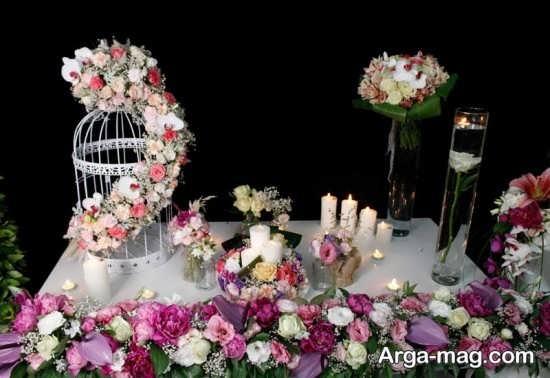 تزیین میز تولد با گل های زیبا