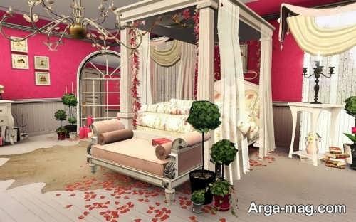 طراحی داخلی اتاق خواب عروس