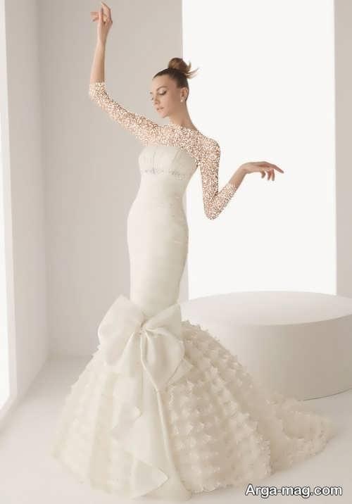 لباس عروس زیبا و شیک دامن ماهی