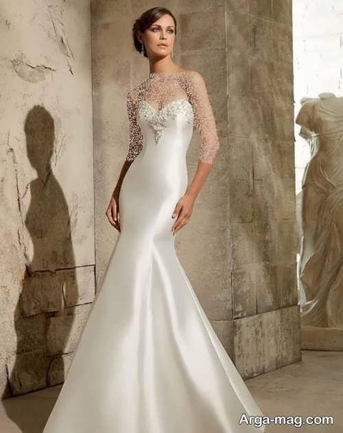 مدل لباس عروس ساتن