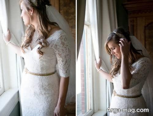 ژست زیبا برای گرفتن عکس عروس