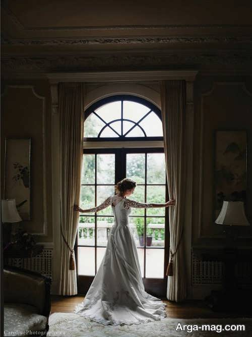 ژست جالب عکس عروس