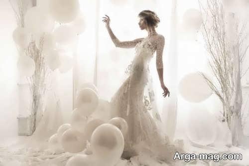 ژست زیبا عکس عروس