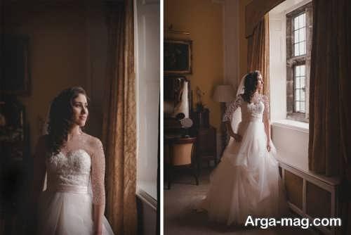 ژست تکی برای عکس عروس