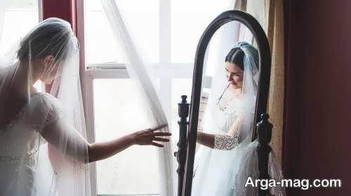 ژست تکی و جالب عکس عروس