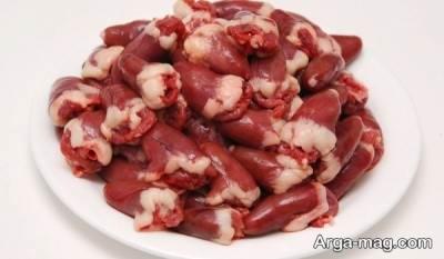 سنگدان پرازخاصیت و سرشار از پروتئین مرغ