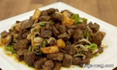 تهیه انواع خورش و خوراک با سنگدان مرغ