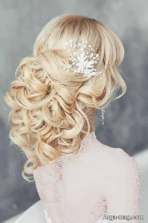 شینیون زیبا و فر برای عروس