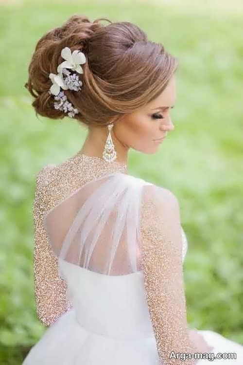 شینیون زیبا و شیک برای عروس