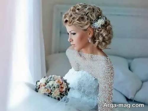 مدل شینیون فر برای عروس
