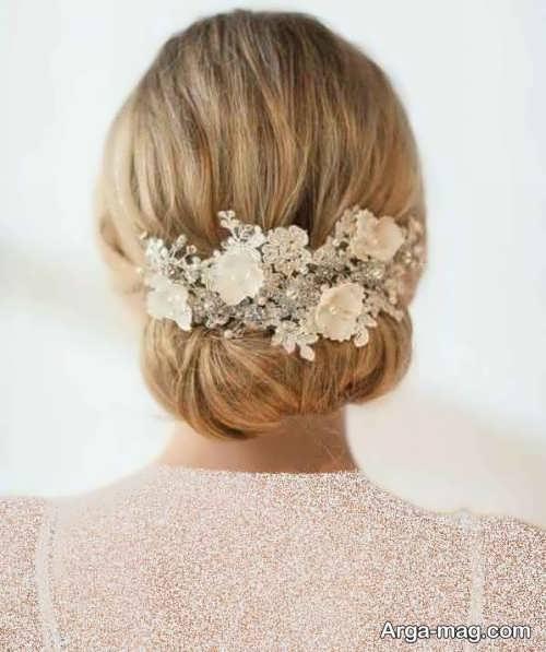مدل آرایش موی شیک و بسته برای عروس