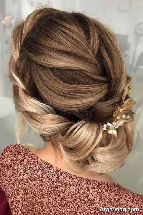 آرایش موی زیبا و جدید برای عروس